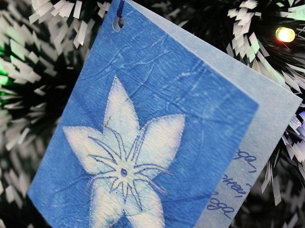 Создаем новогоднюю открытку на елку с пожеланиями   Ярмарка Мастеров - ручная работа, handmade