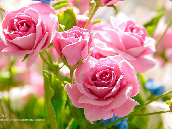 Фотографии букета с кустовыми розами | Ярмарка Мастеров - ручная работа, handmade