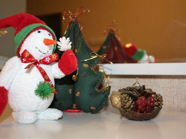 Мастер-класс: шьем текстильную интерьерную игрушку «Снеговик»   Ярмарка Мастеров - ручная работа, handmade