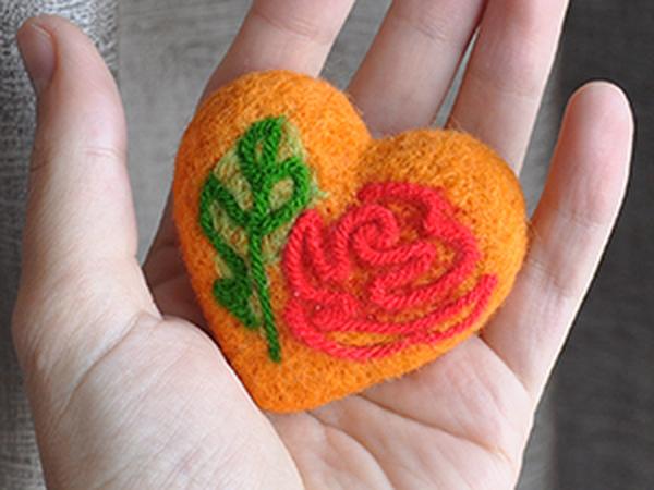Рисуем пряжей: сердце Валентина | Ярмарка Мастеров - ручная работа, handmade