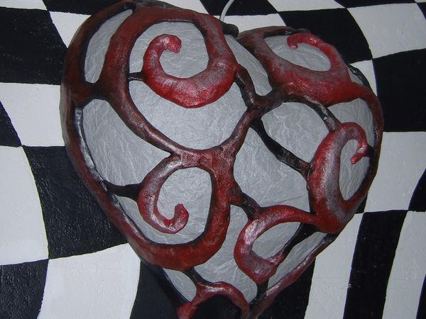 Делаем светильник-сердце из папье-маше | Ярмарка Мастеров - ручная работа, handmade