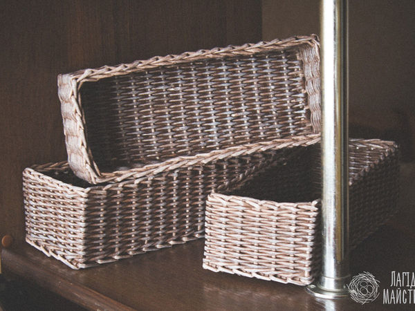 Видео мастер-класс: плетём из бумажных трубочек прямоугольную корзину   Ярмарка Мастеров - ручная работа, handmade