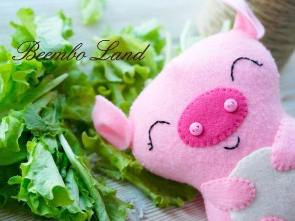 Мастер-класс: свинка из фетра по имени Хрюня | Ярмарка Мастеров - ручная работа, handmade