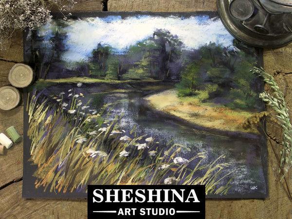 Видеоурок: рисуем быстрый этюд осеннего пейзажа сухой пастелью | Ярмарка Мастеров - ручная работа, handmade