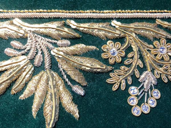 Светская вышивка золотом (2 уровень) | Ярмарка Мастеров - ручная работа, handmade