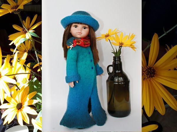 Делаем пальто для куклы в технике «вязаный войлок» | Ярмарка Мастеров - ручная работа, handmade