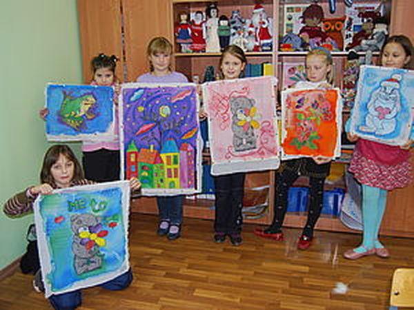 Фото отчёт. Батик. Рисуют дети. | Ярмарка Мастеров - ручная работа, handmade