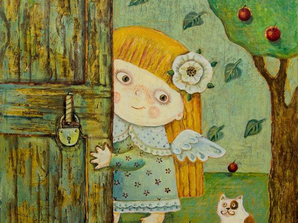 Счастье в дверь стучится   Ярмарка Мастеров - ручная работа, handmade