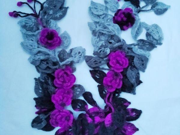 Авторские оригинальные шарфики от 1300 руб | Ярмарка Мастеров - ручная работа, handmade