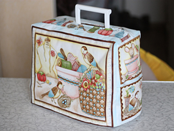 Чехол для швейной машинки с подкладкой   Ярмарка Мастеров - ручная работа, handmade