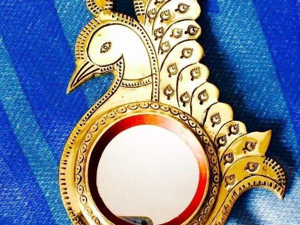 Aranmula Kannadi — металлическое зеркало из Индии   Ярмарка Мастеров - ручная работа, handmade
