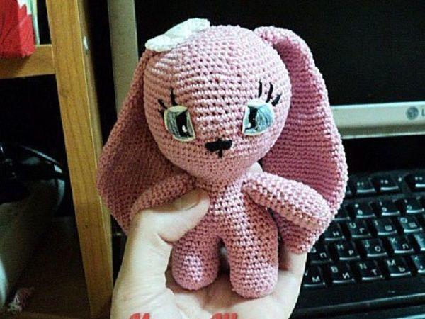 Вяжем крючком зайку «Pink» | Ярмарка Мастеров - ручная работа, handmade