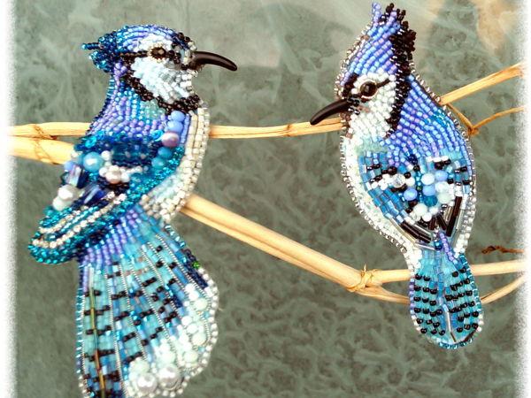 Мои зимние птички бисером | Ярмарка Мастеров - ручная работа, handmade