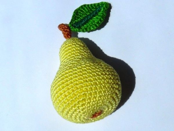 Как связать грушу крючком | Ярмарка Мастеров - ручная работа, handmade