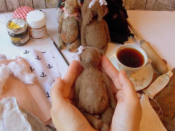 Видео мастер-класс: шьем мишку в винтажном стиле. Урок 5 | Ярмарка Мастеров - ручная работа, handmade