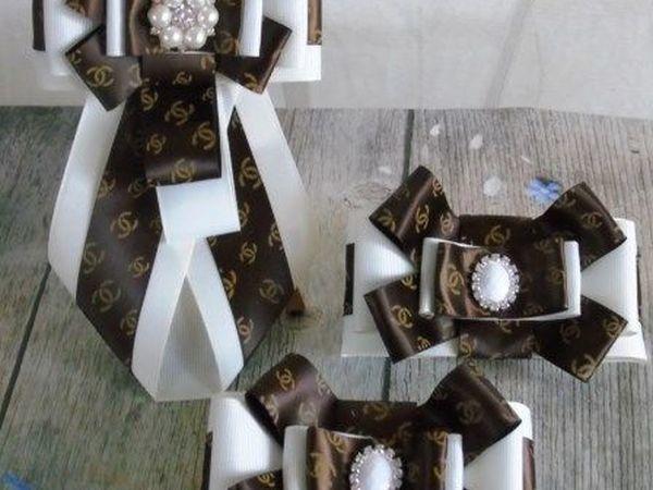 Школьный галстук в технике канзаши своими рукамми | Ярмарка Мастеров - ручная работа, handmade