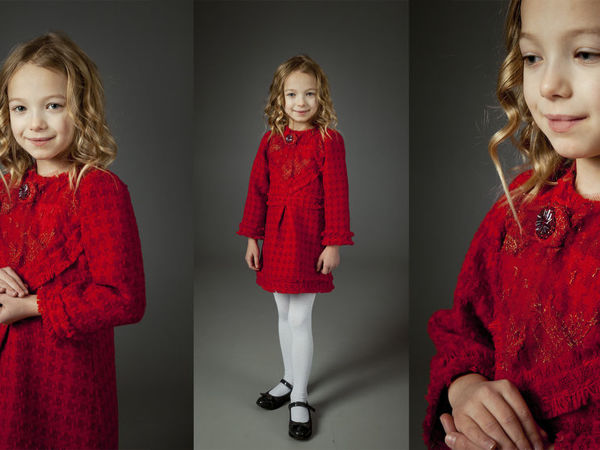 Платье: Красный, как ты прекрасен . Фемили лук в стиле Шанель | Ярмарка Мастеров - ручная работа, handmade
