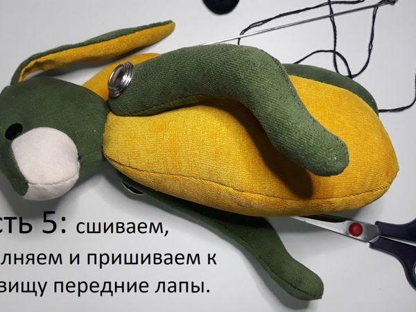 Шьём мягкую игрушку зайца. Часть 5 | Ярмарка Мастеров - ручная работа, handmade