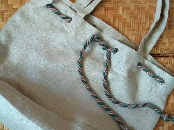 Сумка из льна | Ярмарка Мастеров - ручная работа, handmade
