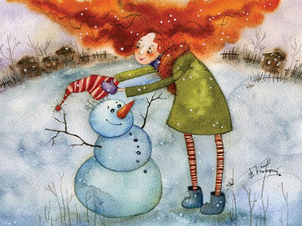 Акварельные зимние сказки Виктории Кирдий | Ярмарка Мастеров - ручная работа, handmade