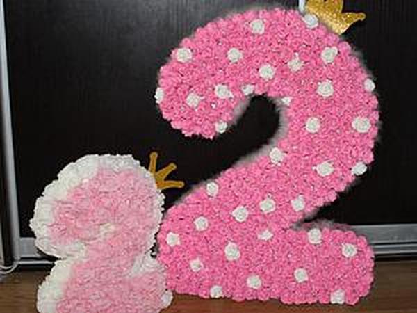 Делаем большую цифру из картона и бумаги | Ярмарка Мастеров - ручная работа, handmade
