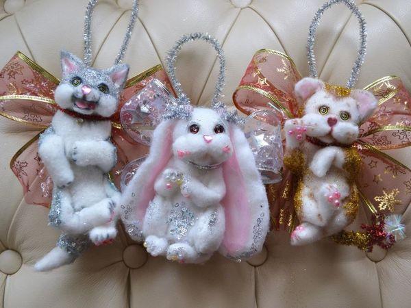 Делаем ёлочную игрушку-зверушку своими руками | Ярмарка Мастеров - ручная работа, handmade