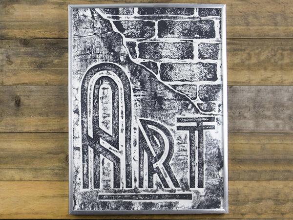 Engraving Imitation on Cardboard: Loft Style Poster   Livemaster - handmade