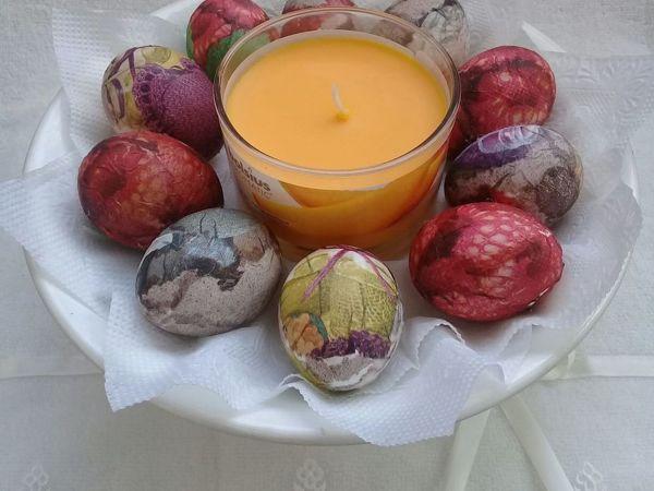Как украсить пасхальные яйца в технике декупаж   Ярмарка Мастеров - ручная работа, handmade