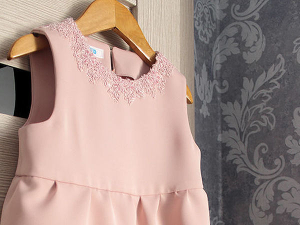 Шьём милое детское платье с кружевной отделкой | Ярмарка Мастеров - ручная работа, handmade