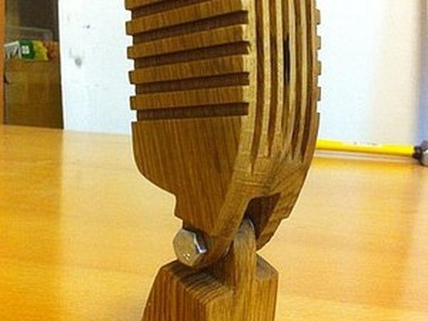 Статуэтка микрофон за час | Ярмарка Мастеров - ручная работа, handmade