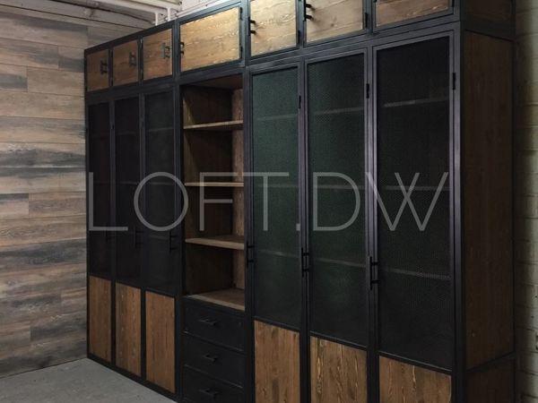 Шкаф в стиле лофт на заказ | Ярмарка Мастеров - ручная работа, handmade