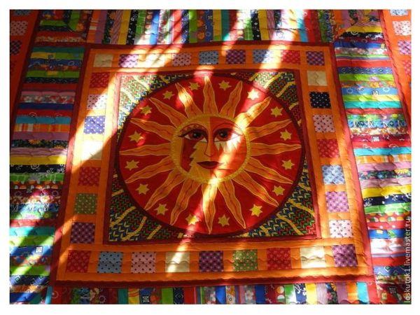 Лоскутное покрывало  «Звезда по имени Солнце» | Ярмарка Мастеров - ручная работа, handmade
