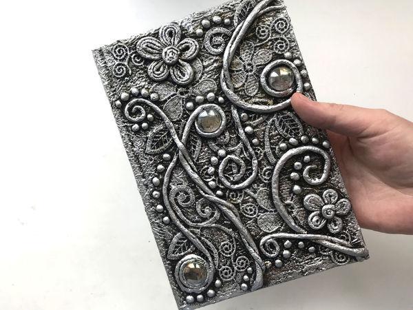 Декор блокнота своими руками   Ярмарка Мастеров - ручная работа, handmade