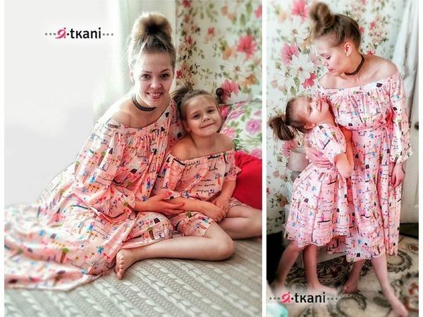 Family-look: в одинаковом наряде и с яркой искоркой во взгляде. Шьем платья для мамы и дочки | Ярмарка Мастеров - ручная работа, handmade