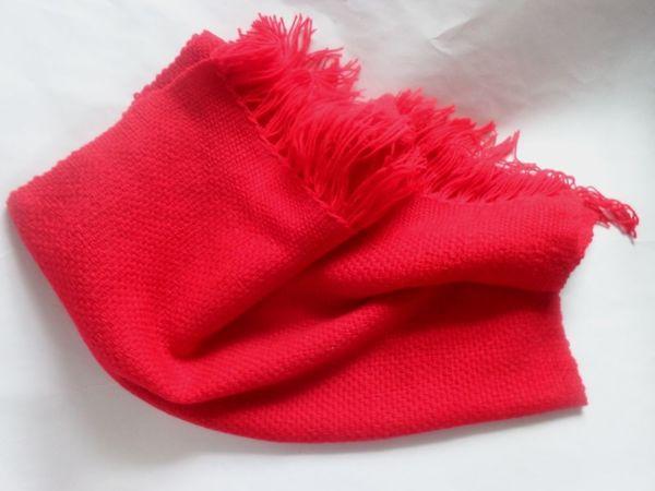 Закрыт. Аукцион на красный теплый шарфик! | Ярмарка Мастеров - ручная работа, handmade