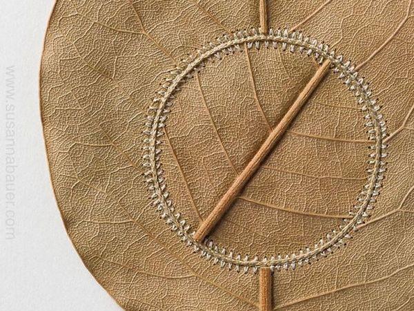 Вышитые скульптуры из сухих листьев   Ярмарка Мастеров - ручная работа, handmade