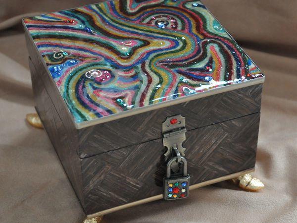 Декорирование шкатулки в стиле китч. Часть 1 | Ярмарка Мастеров - ручная работа, handmade