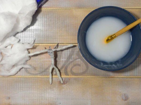 Обмотка проволочного каркаса ватой | Ярмарка Мастеров - ручная работа, handmade