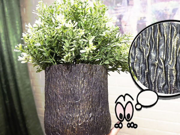 How to Make Gypsum Flower Pot with Wood Texture Easily | Livemaster - handmade