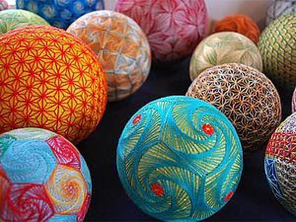 Тэмари — японское искусство вышивания на шарах. Идеи для вашего творчества | Ярмарка Мастеров - ручная работа, handmade