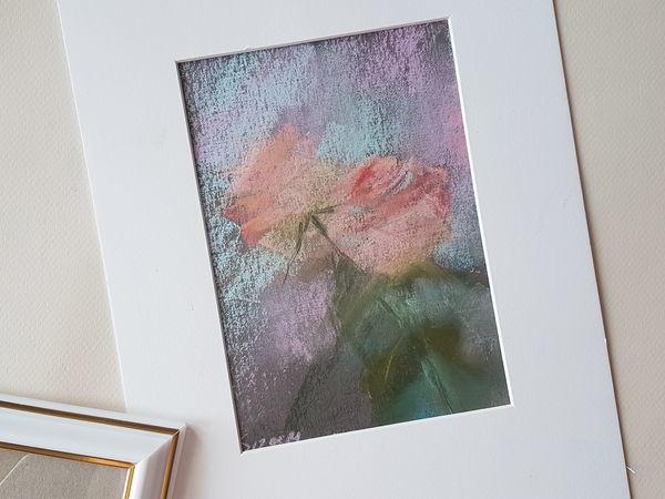 Пишем пастелью нежные розочки | Ярмарка Мастеров - ручная работа, handmade