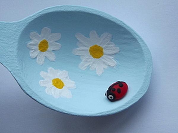 Ложка ромашкина-полянка | Ярмарка Мастеров - ручная работа, handmade