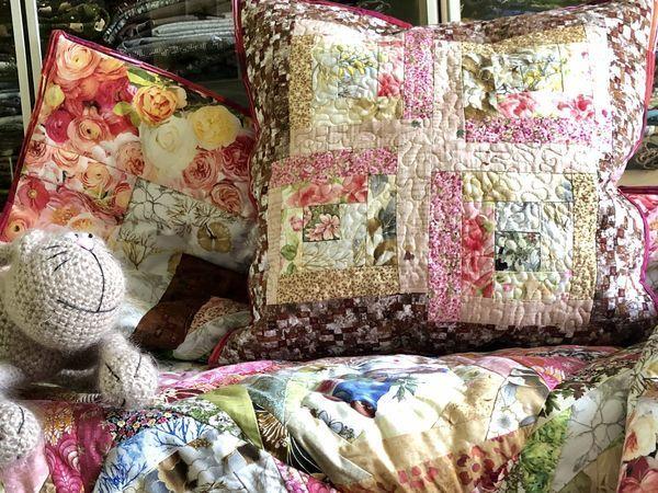 Шьем лоскутную подушку | Ярмарка Мастеров - ручная работа, handmade