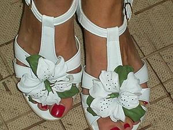 Делаем белые лилии для туфелек | Ярмарка Мастеров - ручная работа, handmade