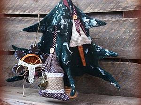 Создаем объемную многофункциональную елку в технике мокрого валяния | Ярмарка Мастеров - ручная работа, handmade