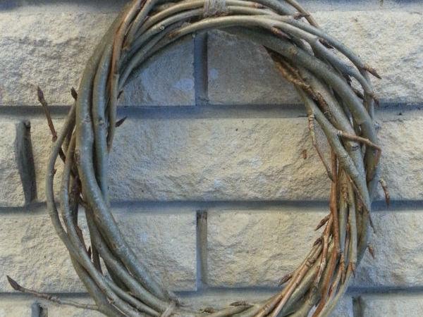 Венок из лозы вербы — от заготовки до плетения   Ярмарка Мастеров - ручная работа, handmade