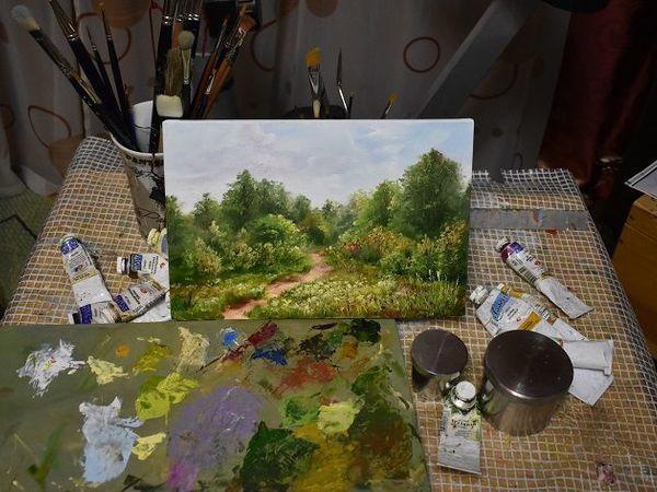 Видеоурок: летний пейзаж на холсте маленького формата   Ярмарка Мастеров - ручная работа, handmade