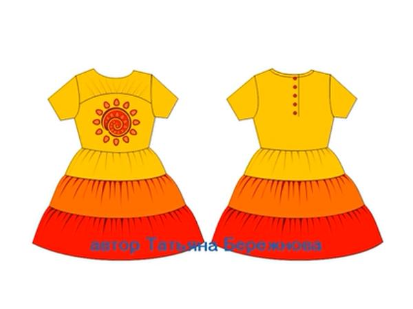 Моделирование выкроек. Детское платье с драпировкой на кокетке | Ярмарка Мастеров - ручная работа, handmade