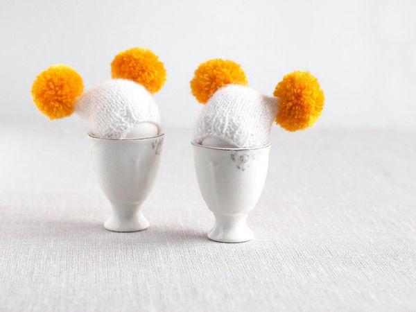 Завтрак с позитивом: шапочки-пашотницы и грелки для яиц | Ярмарка Мастеров - ручная работа, handmade