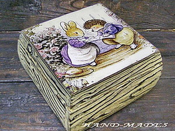 Очень красивые шкатулки! Брашировка+декупаж! Уникальная техника от Марины Жуковой! | Ярмарка Мастеров - ручная работа, handmade
